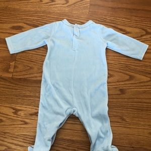 First Impressions One Pieces - Little Prince Baby Onesie in Blue - Soft Fleece